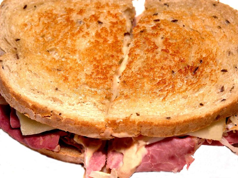 Sandwich à Reuben photographie stock