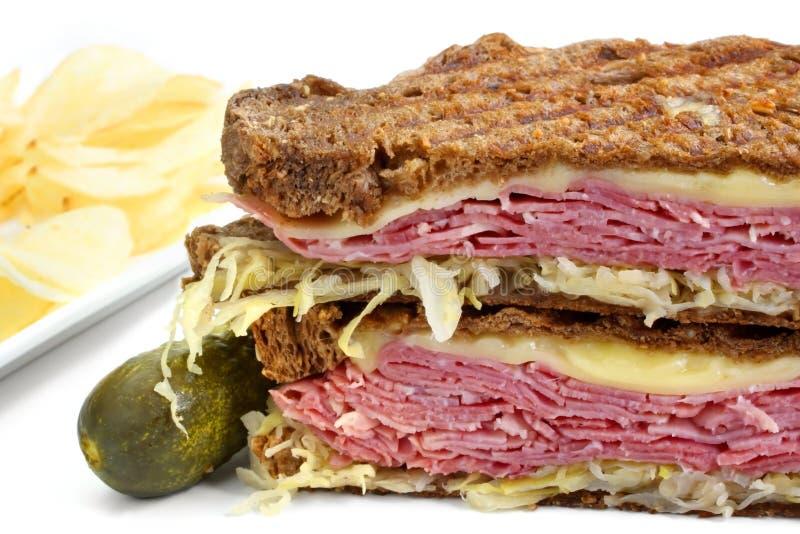 Sandwich à Reuben images stock