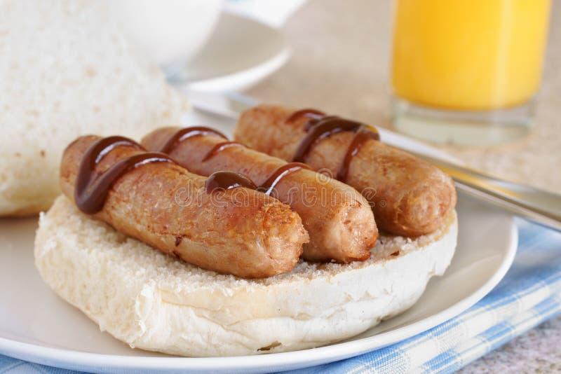 Sandwich à saucisse images stock