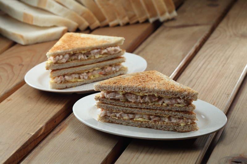 Sandwich à thon images libres de droits