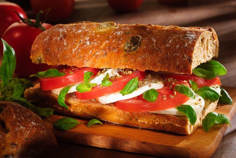 Sandwich à tomate et à mozzarella photos libres de droits