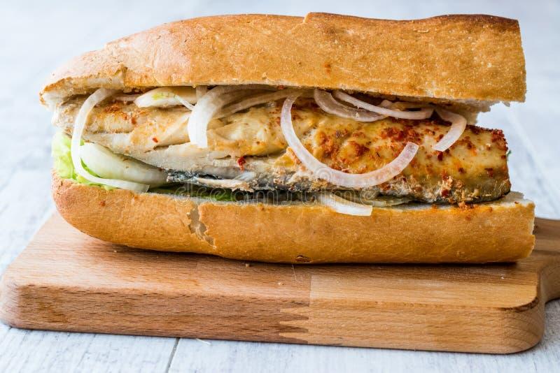 Sandwich à turc Balik Ekmek/poissons image stock