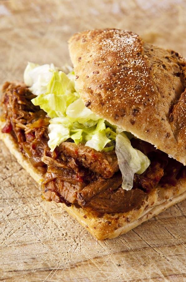 Sandwich à viande photo libre de droits