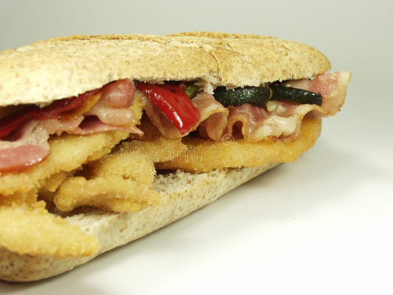 Download Sandwich stock image. Image of cuisines, breaded, classic - 1402687