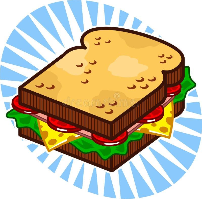 Sandwich illustration libre de droits