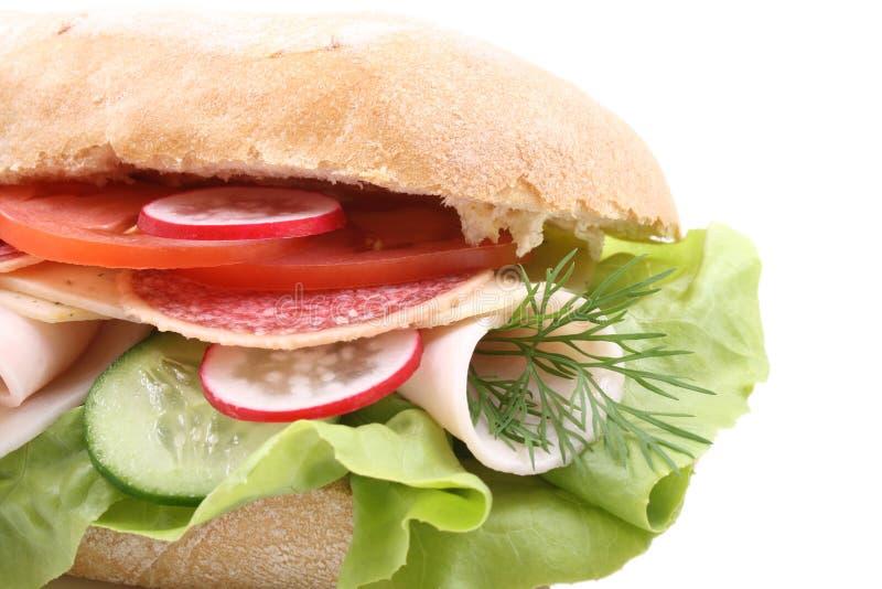 Download Sandwich stock image. Image of salami, ciabata, food, tomato - 2311235