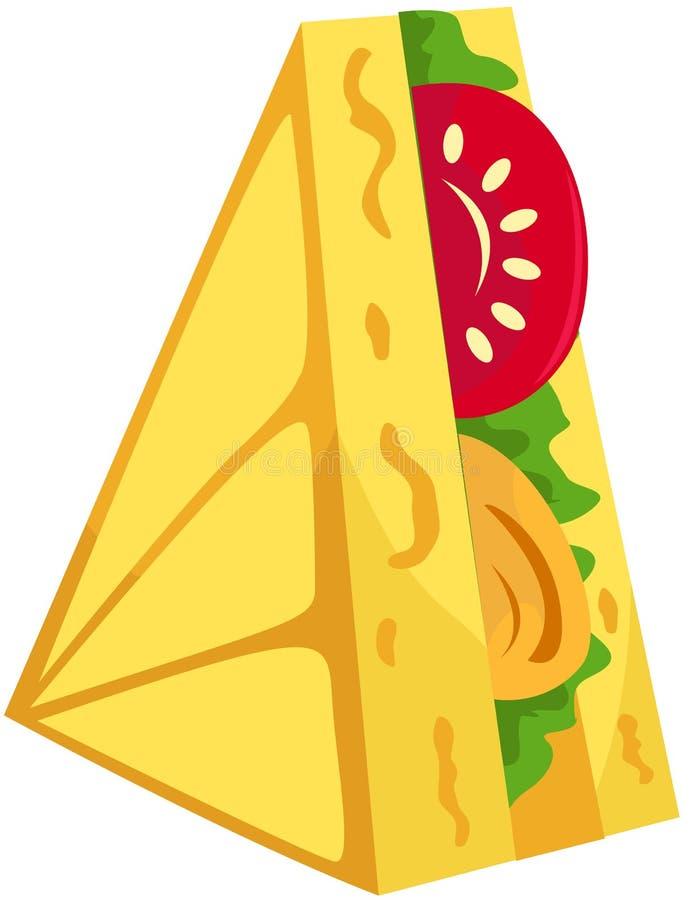 Download Sandwich stock vector. Illustration of bread, crust, cartoon - 24254339