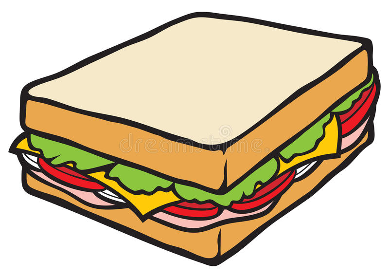 Sandwich. With extras to eat vector illustration