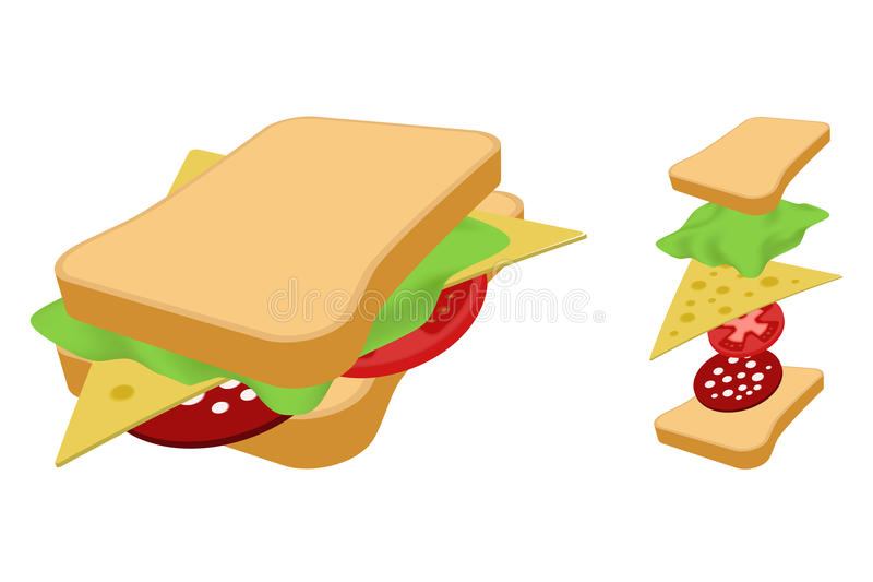 Download Sandwich. Royalty Free Stock Photo - Image: 27479735