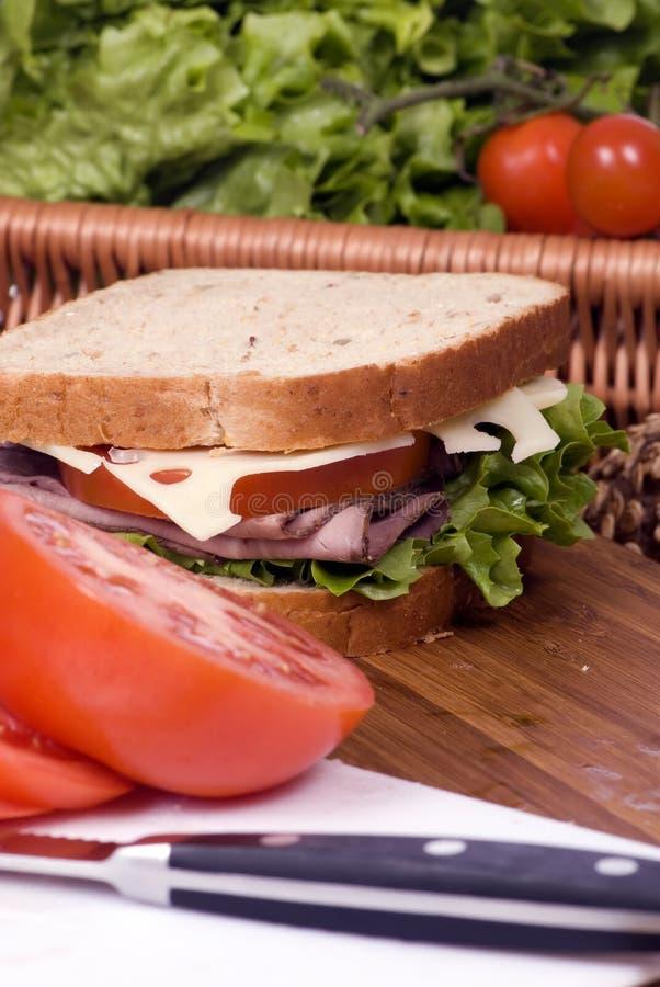 Sandwich 4 à épicerie photos libres de droits