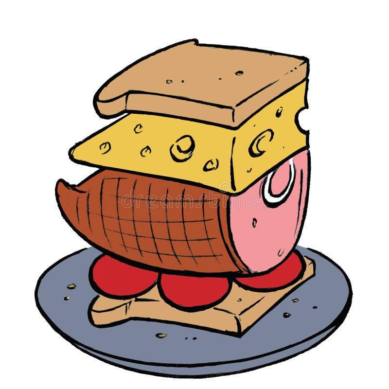 Sandwich illustration de vecteur