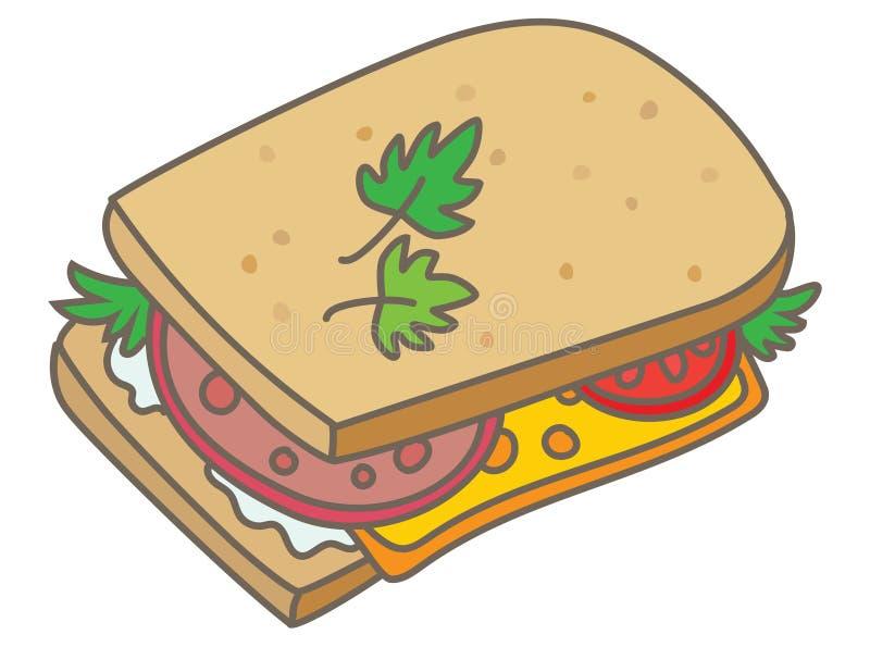 Sandwich illustration stock