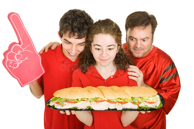 sandwich affamé à partiers images libres de droits