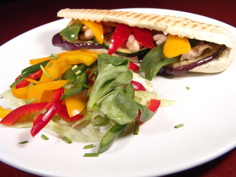 Sandwich&Salad foto de archivo libre de regalías