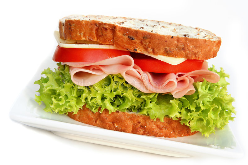 Sandwich au jambon photographie stock