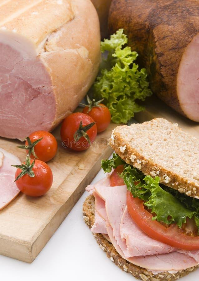 Sandwich au jambon photos stock