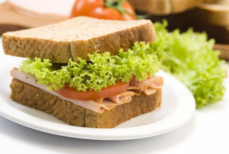 Sandwich au jambon photo stock