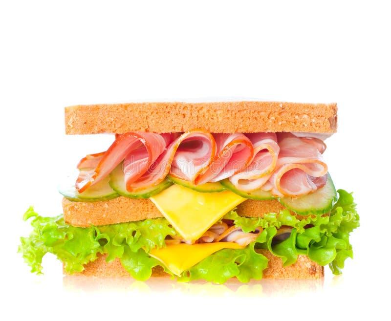 Sandwich au jambon sain images libres de droits