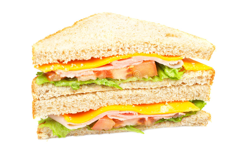 Sandwich Au Jambon Sain Image libre de droits