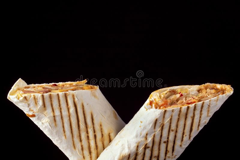 Sandwich au shawarma deux photo stock