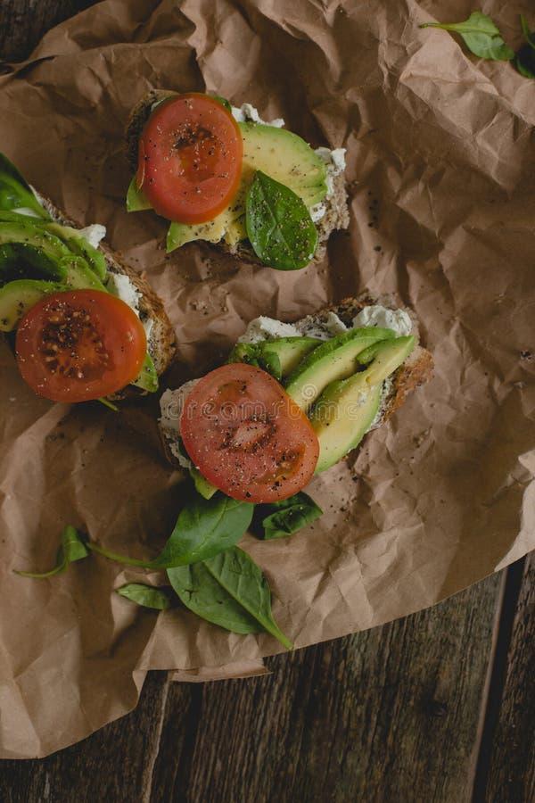 Sandwich auf dem Tisch stockfoto