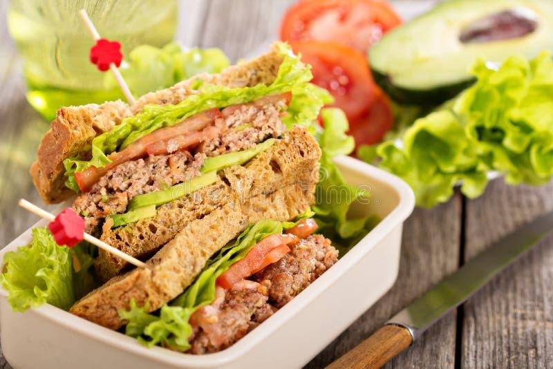 Sandwich avec des boulettes de viande photos libres de droits