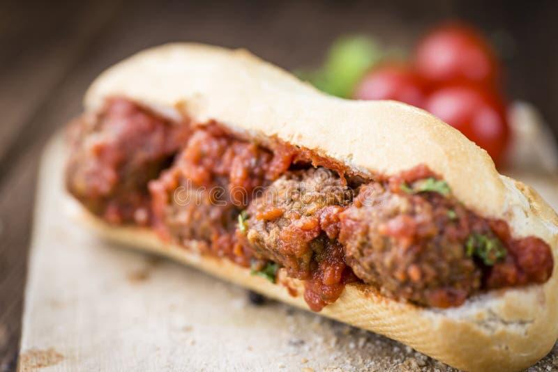 Sandwich avec des boulettes de viande photos stock