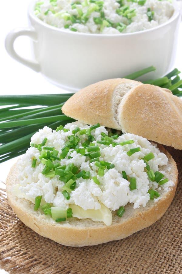 Sandwich avec le fromage blanc photos libres de droits