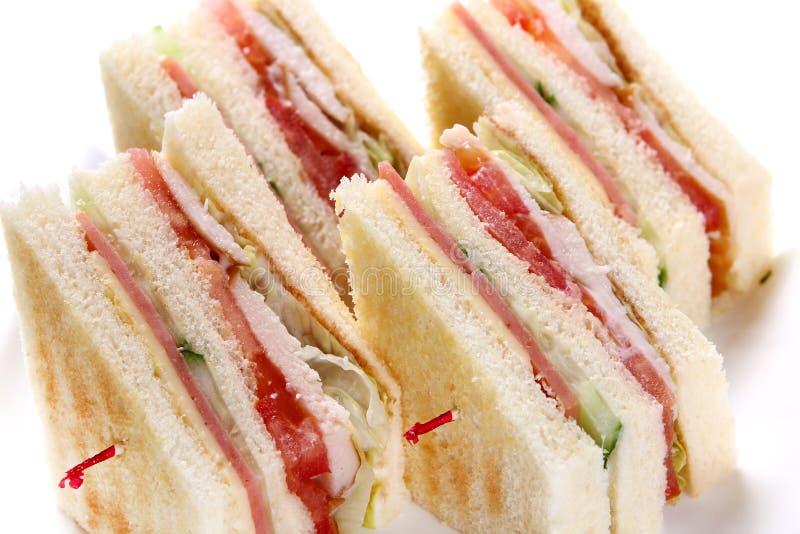 Sandwich avec le ketchup images libres de droits