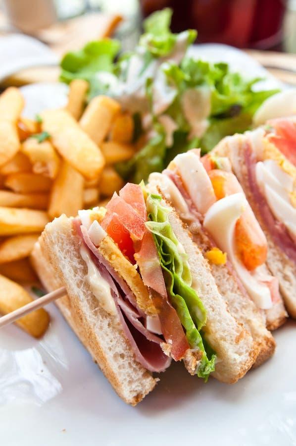 Sandwich avec le lard photo stock