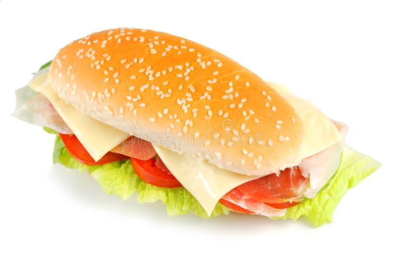 Sandwich avec le lard images libres de droits