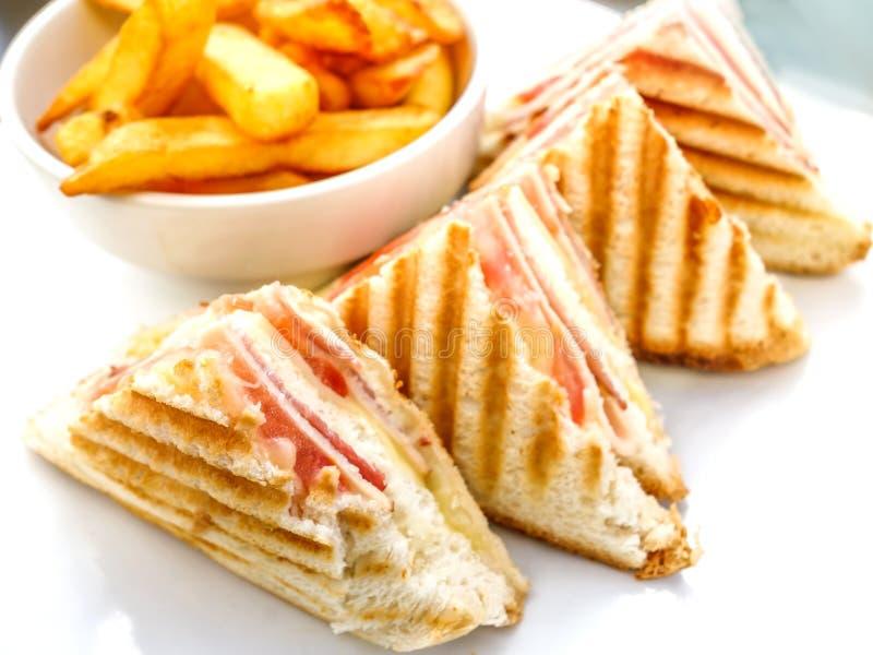 Sandwich avec le lard photographie stock