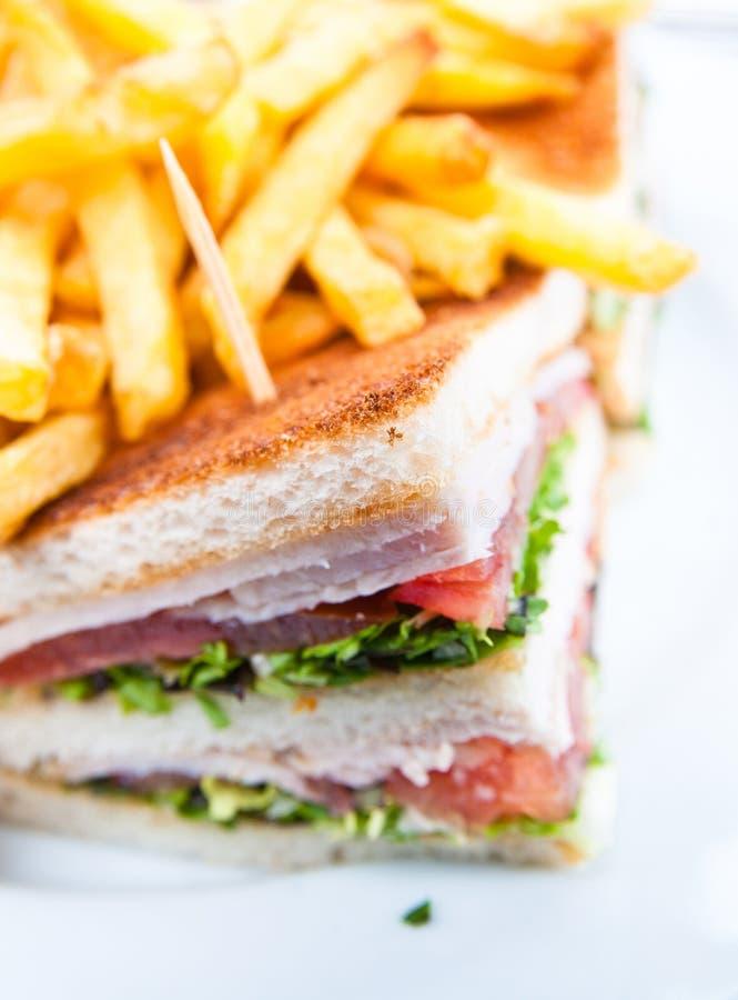 Sandwich avec le poulet photo libre de droits