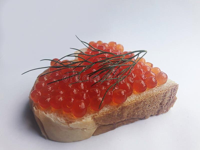 Sandwich avec une étincelle rouge image stock