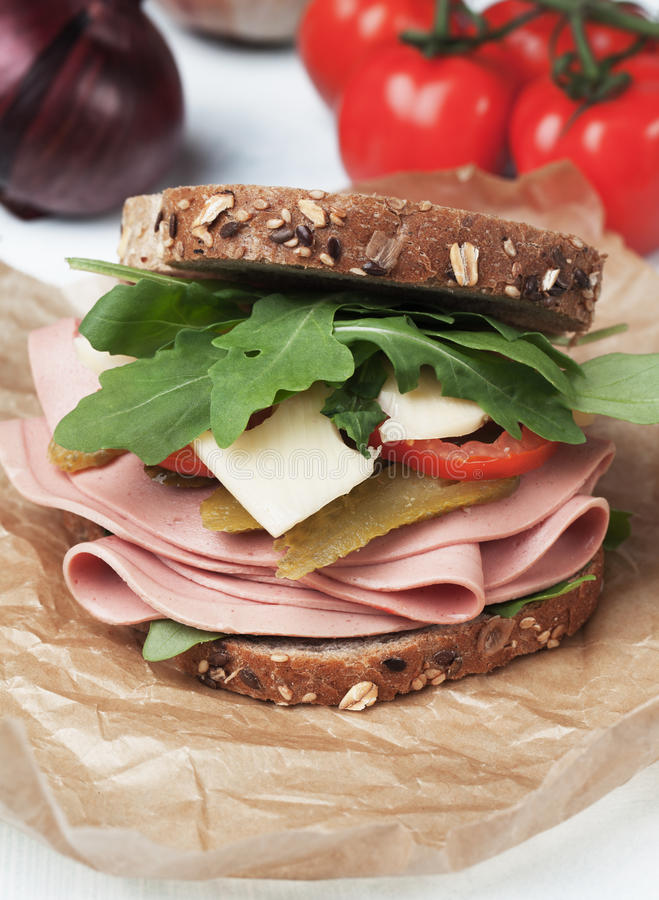 Sandwich bidon images libres de droits