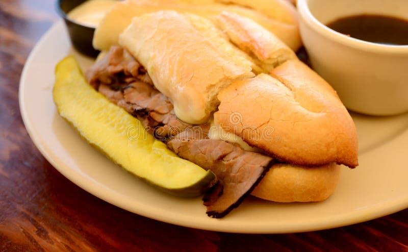 Sandwich chaud à immersion de Français photos stock