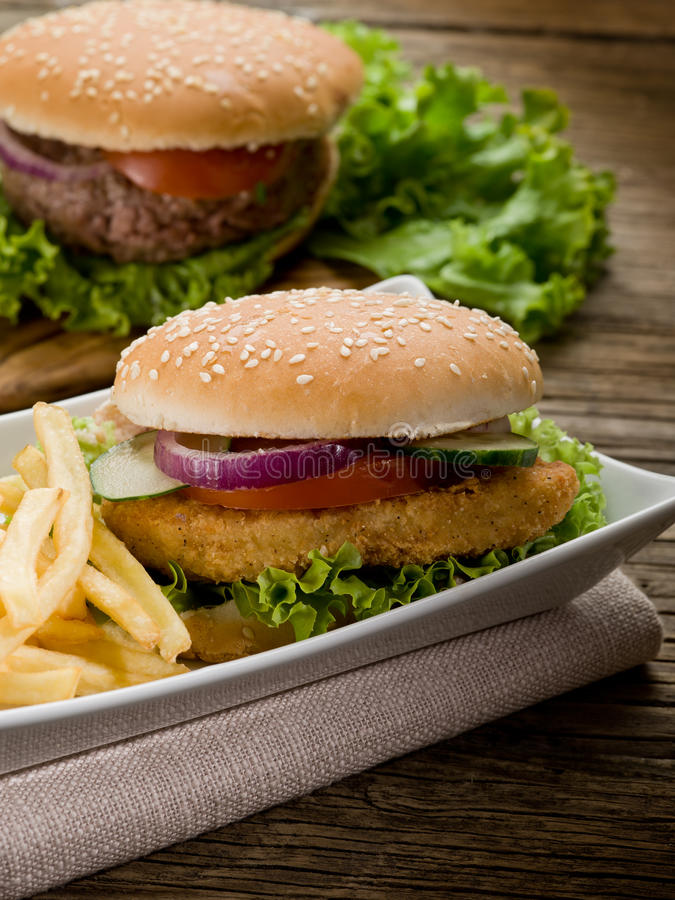 Download Sandwich  with chicken stock image. Image of hamburger - 23873777