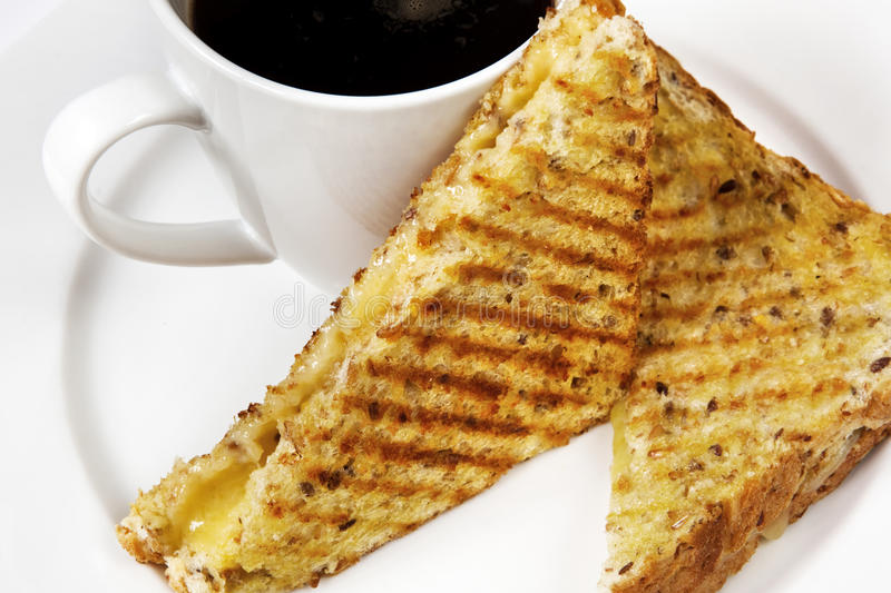 Download Sandwich and Coffee stock image. Image of toasted, bread - 18231213