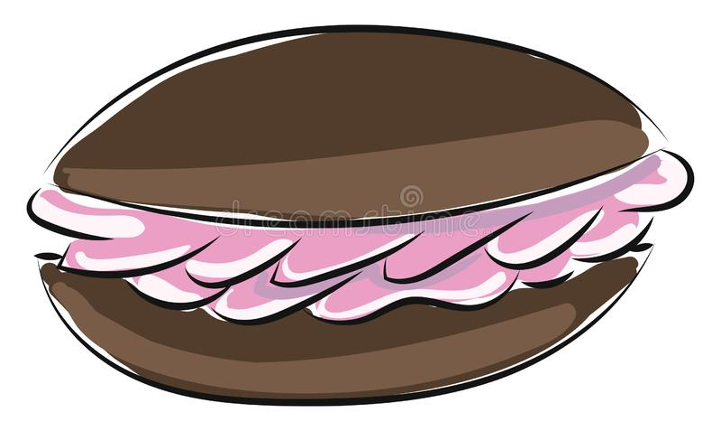 Image of sandwich biscuit, vector or color illustration stock illustration