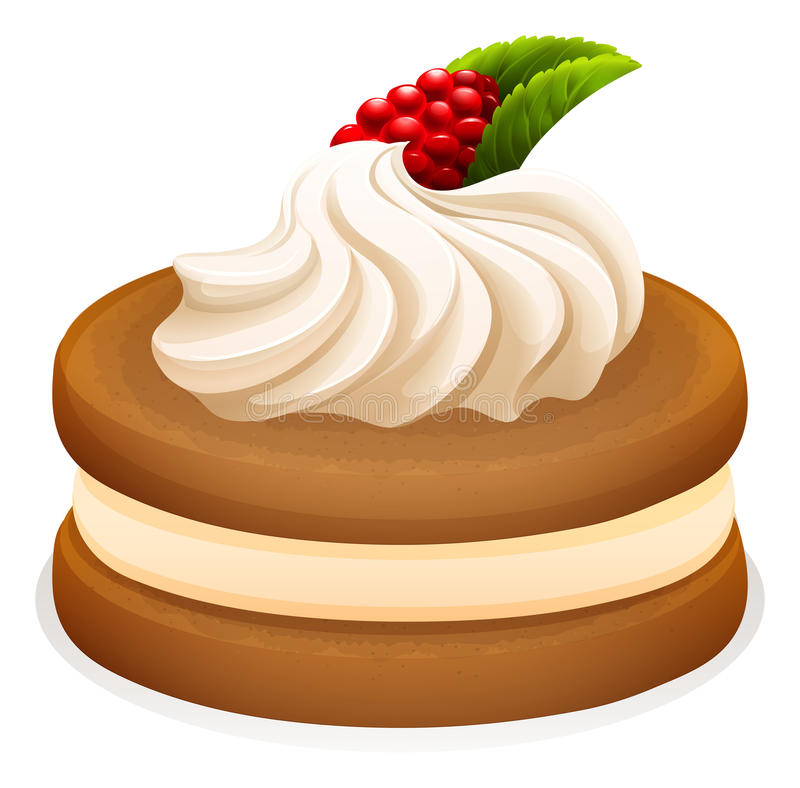 Sandwich cookie and cream vector illustration