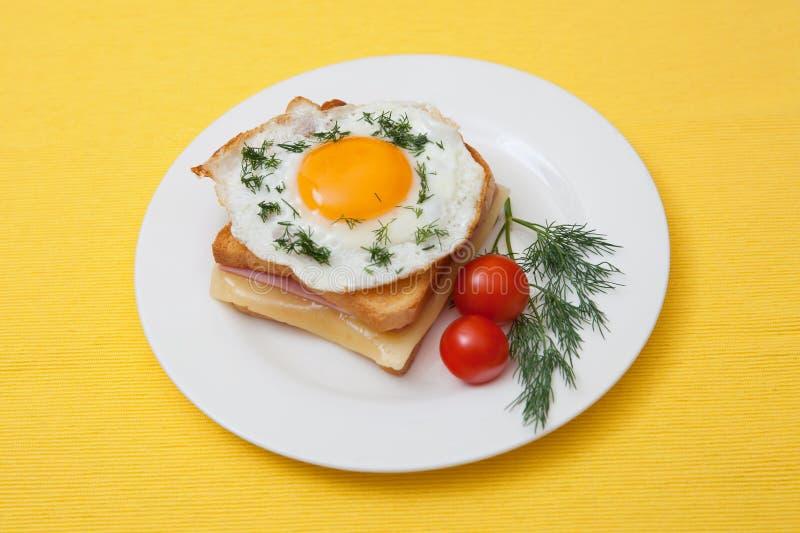 Sandwich croque-Mevrouw royalty-vrije stock afbeeldingen