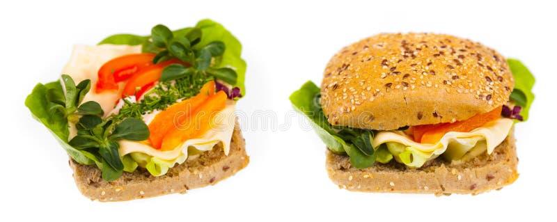 Sandwich délicieux et sain photos libres de droits