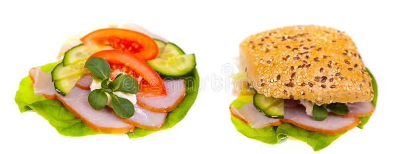 Sandwich délicieux et sain photo stock
