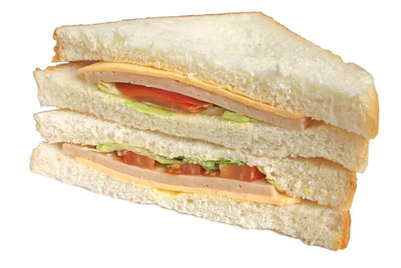 Sandwich d'isolement sur un fond blanc photo libre de droits