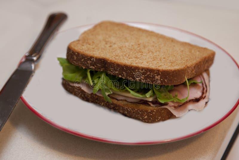 Sandwich d'une plaque images stock