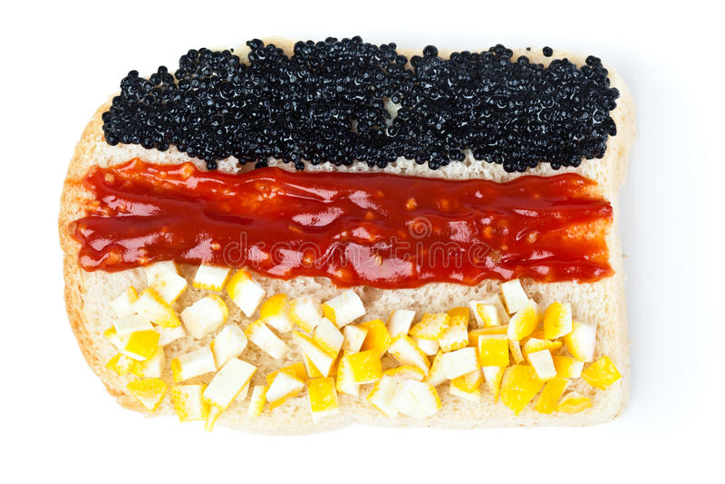 Sandwich with a flag of the Germany stock photo