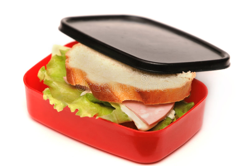 Sandwich in the food box royalty free stock photography