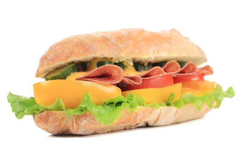 Sandwich frais à baguette française. image libre de droits