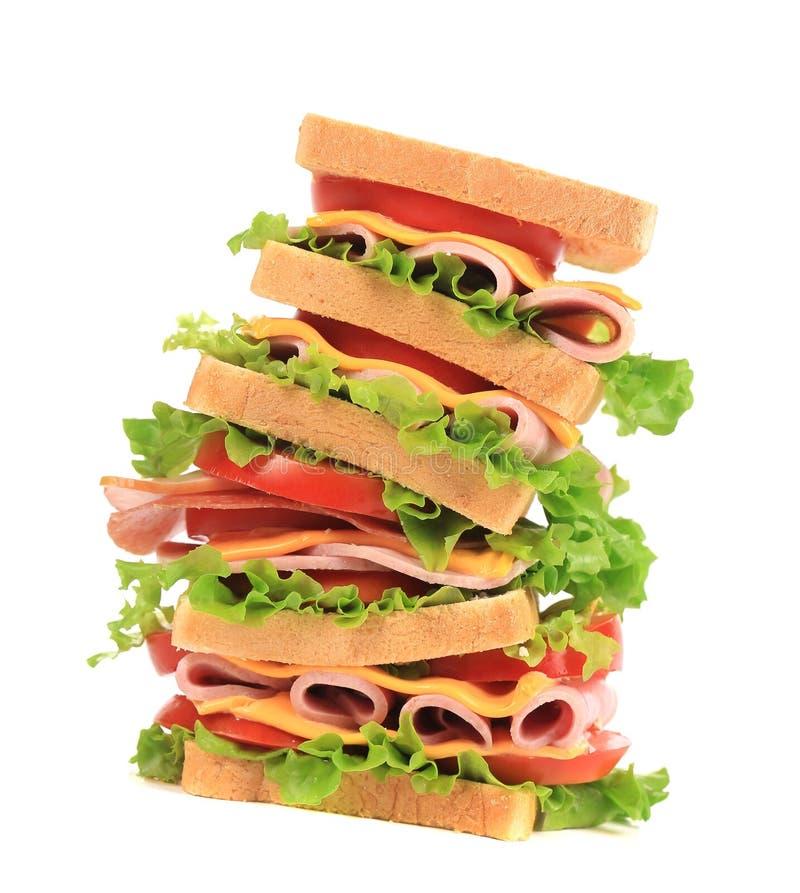 Sandwich frais à pain grillé. image stock