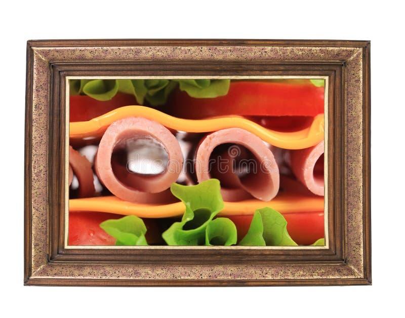 Sandwich frais dans le cadre. image stock